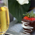 Chocolate strawberries and champagne