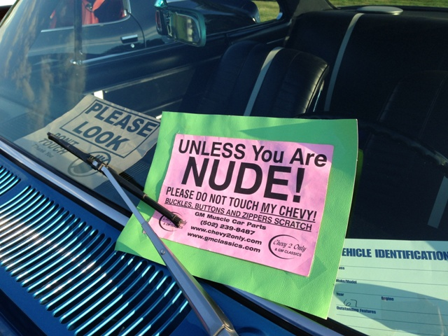 Unless You Are Nude Note