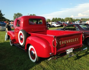 Old Chevy Red Truck
