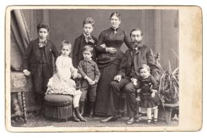 Historic family photo circa 1883