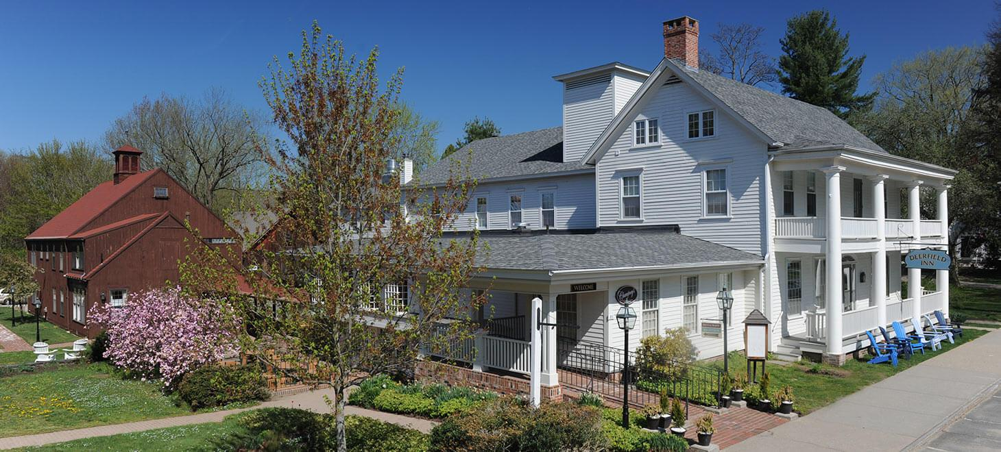Exterior in Spring of Deerfield Inn