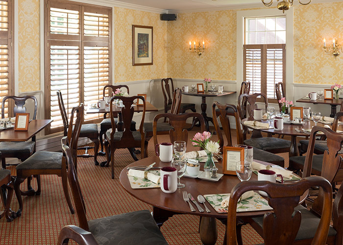 Tables at Champney's Restaurant