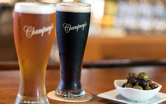 Beer and Olives at Champney's