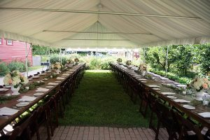 Wedding reception set up