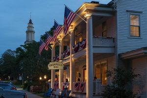 Deerfield Inn Exterior at Dusk