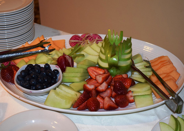 Large plate with different fruits