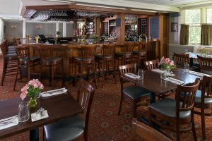Champney's Restaurant bar and tables