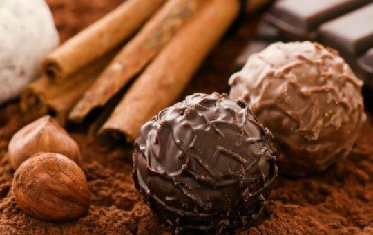 Chocolate Truffles & Cinnamon Sticks